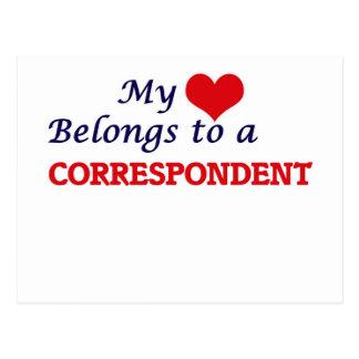 My heart belongs to a Correspondent Postcard