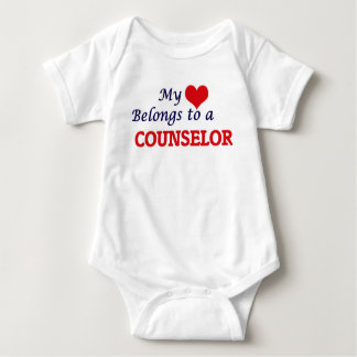 My heart belongs to a Counselor Baby Bodysuit