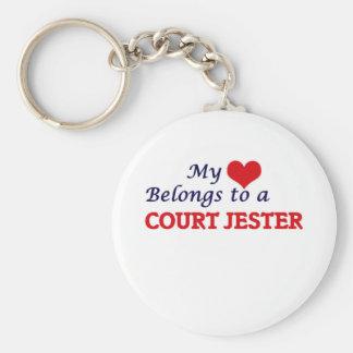My heart belongs to a Court Jester Keychain