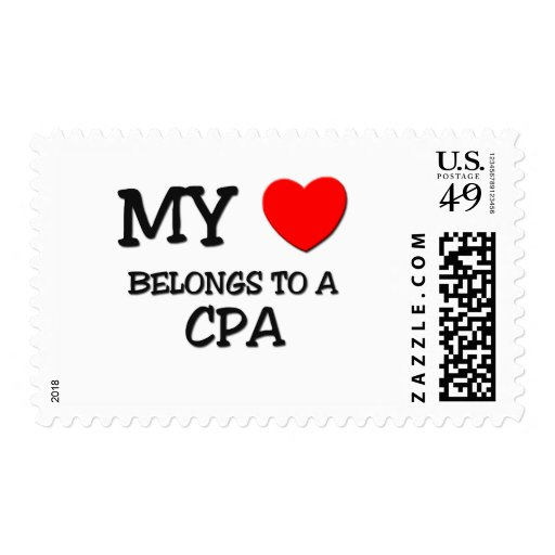 My Heart Belongs To A CPA Postage Stamps