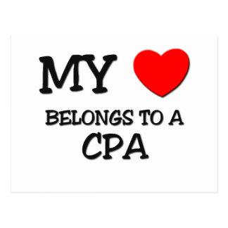 My Heart Belongs To A CPA Postcard