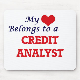My heart belongs to a Credit Analyst Mouse Pad