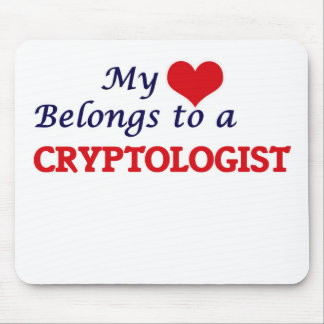 My heart belongs to a Cryptologist Mouse Pad
