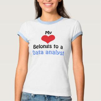 My Heart Belongs to a data analyst T Shirt