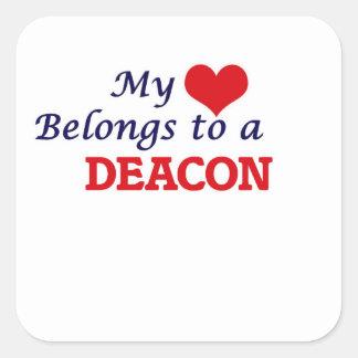 My heart belongs to a Deacon Square Sticker