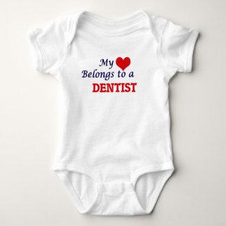 My heart belongs to a Dentist Baby Bodysuit