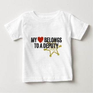 My Heart Belongs to a Deputy Baby T-Shirt