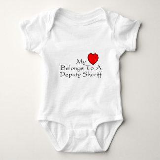 My Heart Belongs To A Deputy Sheriff Baby Bodysuit