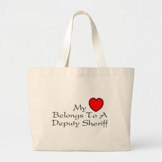 My Heart Belongs To A Deputy Sheriff Canvas Bags