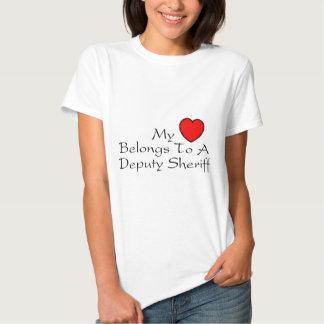 My Heart Belongs To A Deputy Sheriff Tee Shirt