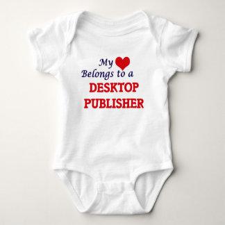 My heart belongs to a Desktop Publisher Baby Bodysuit