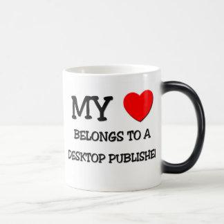 My Heart Belongs To A DESKTOP PUBLISHER Coffee Mug