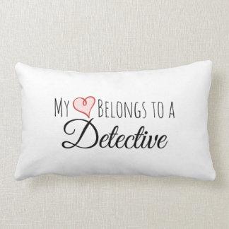 My Heart Belongs to a Detective Lumbar Pillow