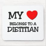 My Heart Belongs To A DIETITIAN Mouse Mat
