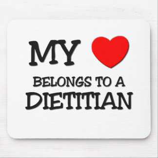 My Heart Belongs To A DIETITIAN Mouse Pad