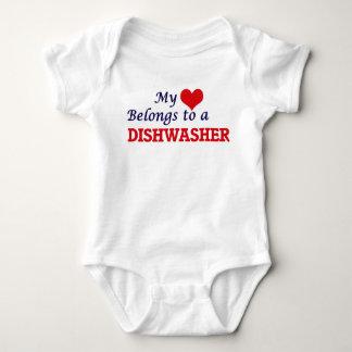 My heart belongs to a Dishwasher Baby Bodysuit