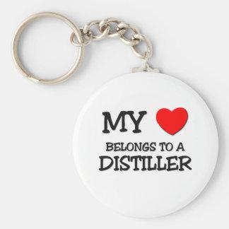 My Heart Belongs To A DISTILLER Basic Round Button Keychain