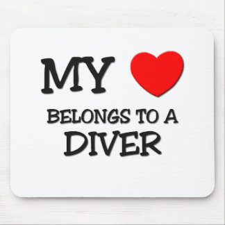 My Heart Belongs To A DIVER Mouse Pad
