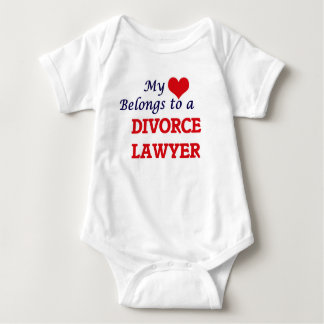 My heart belongs to a Divorce Lawyer Baby Bodysuit
