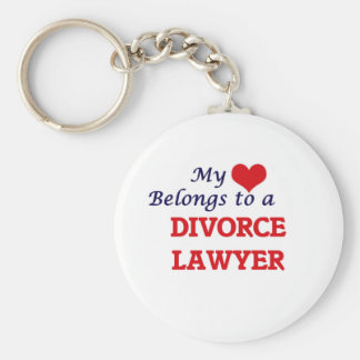My heart belongs to a Divorce Lawyer Keychain