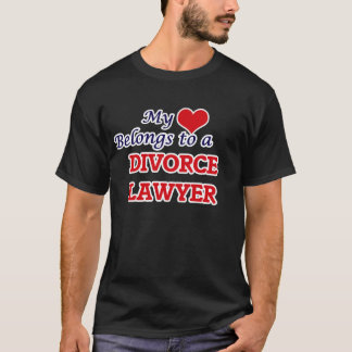 My heart belongs to a Divorce Lawyer T-Shirt