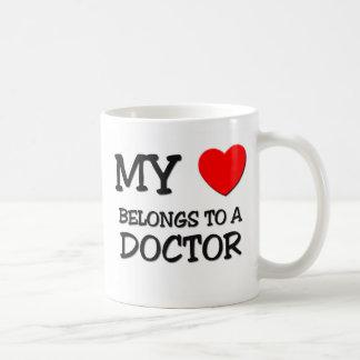 My Heart Belongs To A DOCTOR Classic White Coffee Mug