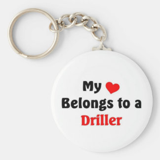 My heart belongs to a driller keychain