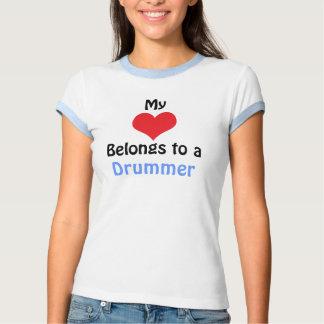 My Heart Belongs to a drummer Shirt