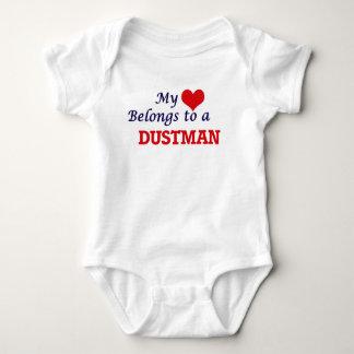 My heart belongs to a Dustman Baby Bodysuit