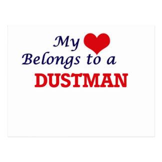 My heart belongs to a Dustman Postcard