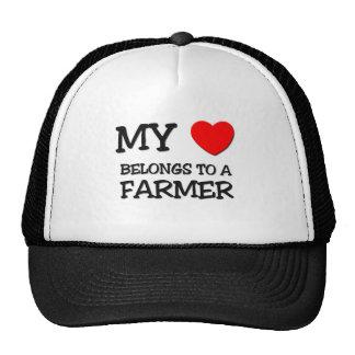 My Heart Belongs To A FARMER Hats