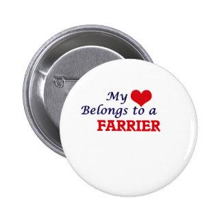My heart belongs to a Farrier Button