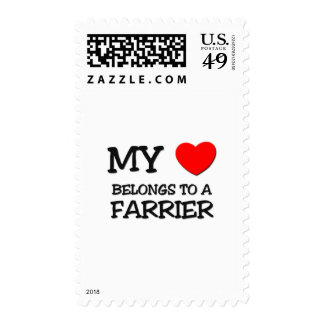 My Heart Belongs To A FARRIER Postage Stamp