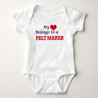 My heart belongs to a Felt Maker Baby Bodysuit