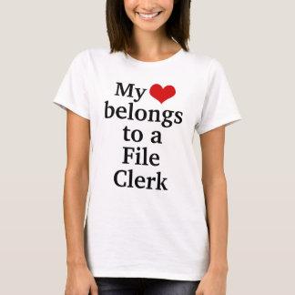 My heart belongs to a File Clerk T-Shirt