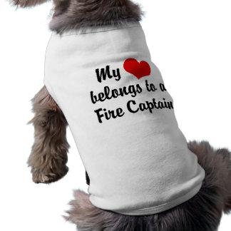My Heart Belongs To A Fire Captain T-Shirt