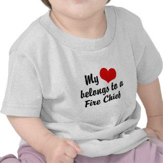 My Heart Belongs To A Fire Chief Tshirt