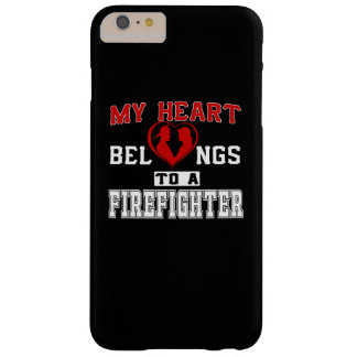 My heart belongs to a Firefighter Barely There iPhone 6 Plus Case