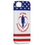 My Heart Belongs To A Firefighter iPhone 5 Cases