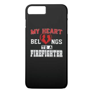 My heart belongs to a Firefighter iPhone 7 Plus Case