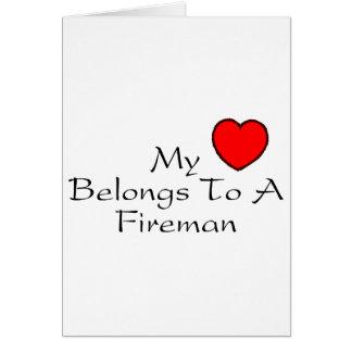 My Heart Belongs To A Fireman Card