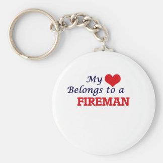 My heart belongs to a Fireman Keychain
