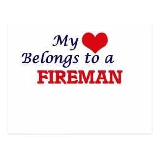 My heart belongs to a Fireman Postcard