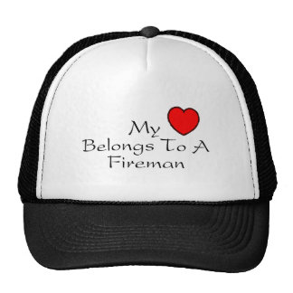 My Heart Belongs To A Fireman Trucker Hat