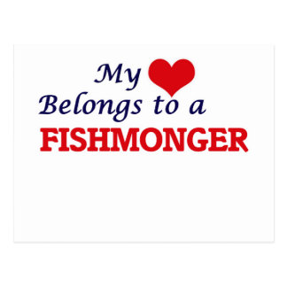 My heart belongs to a Fishmonger Postcard