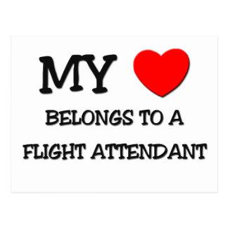 My Heart Belongs To A FLIGHT ATTENDANT Postcard