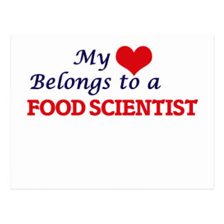 My heart belongs to a Food Scientist Postcard