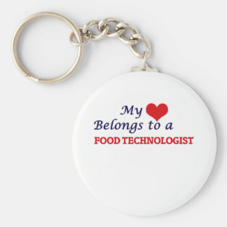 My heart belongs to a Food Technologist Keychain
