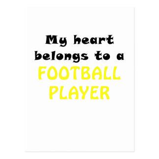 My Heart Belongs to a Football Player Postcard