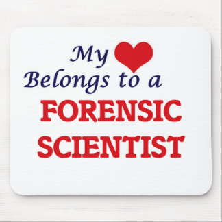 My heart belongs to a Forensic Scientist Mouse Pad